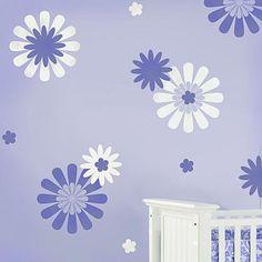 Cutting Edge Stencils - Daisy Crazy Flower Stencils, kit #1