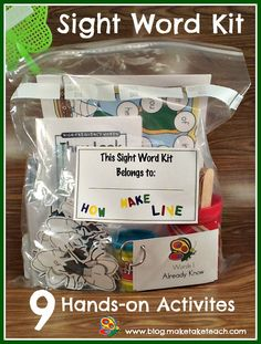 9 activities for teaching sight words! Great for classroom volunteers or for parents who want to work with their child at home.