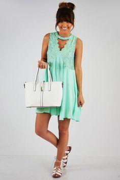 Lost In Translation Dress: Mint