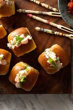 I LOVE the way these sandwich rolls are cut on top, makes it so  nice for even chicken salad sandwiches...looks so elegant & best of all, the filling doesn't come out the sides. Just looks nice!