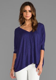 DOLAN Oversize Square Tee in Amethyst - New