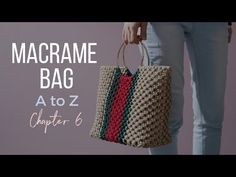 [Eng sub]Macrame Bag A to Z - / 마크라메 핸드백 만들기 - macrameb Macrame Purse, Macrame Knots, Macrame Patterns, Crochet Patterns, Tassen Design, Macrame Design, Macrame Projects, Macrame Tutorial, Handmade Bags