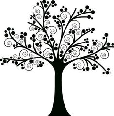 "Discover thousands of images about Beautiful swirly tree. I'm planning on painting this on the wall and then adding pictures of our family to create a unique ""family tree. Family Tree Decal, Tree Decals, Silhouette Portrait, Tree Silhouette, Wall Decal Sticker, Wall Stickers, Vinyl Decals, Silhouette Cameo Projects, Button Art"