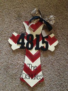 DIY Painted Cross Door Hanger- would be a great house warming gift!