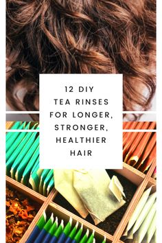 Tea strengthens the hair to stop frizz, breakage and split ends. Use these 12 herbal tea rinses to balance your scalp's pH, promote hair growth, stop early graying, restore shine, and encourage bounce and elasticity. #tearinse #diytearinseforhair #teaforhair #growhairfast #stopgraying #stophairshedding #hairgrowth #growhairfast #OilForHairLoss