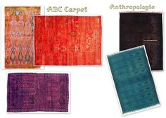 I love tis new trend. Overdyed carpets are aamazing.