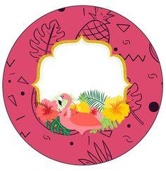 Uau! Veja o que temos para Molde para Latinha Flamingo Tropical