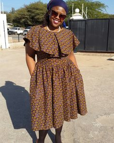 Modern Shweshwe Styles for Fashion Lovers Shweshwe is a traditional cotton fabric South Africa South African Fashion, African Fashion Designers, African Print Fashion, African Lace Dresses, African Fashion Dresses, Seshweshwe Dresses, African Wear, African Style, African Women