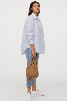 Długa koszula z wiskozy CiemnoniebieskiBiała krata ONA