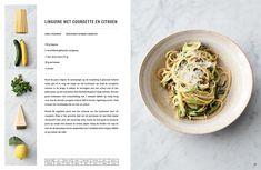 5 Ingrediënten - snel & simpel koken Jamie Oliver, Linguine, Zucchini, Cantaloupe, Cabbage, Easy, Spaghetti, Clean Eating, Fruit