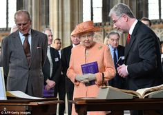 Music to their ears: The Queen and the Duke said they enjoyed the performance Prince Charles, Prince of Wales is seen during his visit to J36 Rural Auction Centre, a state of the art 13.5 acre multi-tenanted rural business site, in Crooklands on April 9, 2014