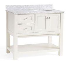 Classic Asymmetric Single Sink Console - White #potterybarn