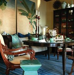 British Colonial Interiors Tropical-chic Design ~ Key West- Ernest Heminway British West Indies ~ Love the colors!Tropical-chic Design ~ Key West- Ernest Heminway British West Indies ~ Love the colors! West Indies Decor, West Indies Style, British West Indies, Interior Tropical, Tropical Home Decor, Tropical Houses, Tropical Colors, Tropical Furniture, Tropical Art