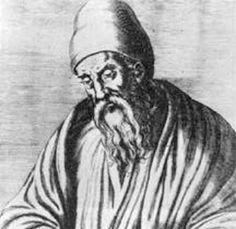 """Euclides de Alexandria (300 AC) foi um professor, matemático platónico e escritor possivelmente grego, muitas vezes referido como o """"Pai da Geometria"""". Além de sua principal obra, Os Elementos, Euclides também escreveu sobre perspectivas, seções cônicas, geometria esférica, teoria dos números e rigor."""