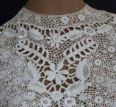 irish crochet lace | Irish crochet lace blouse, c.1905