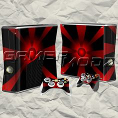 Target XBOX 360 Skin Set - Console with 2 Controllers