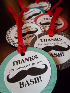 Mustache Bash/Little Man Party Favor Tags by picassothedog on Etsy, $7.50
