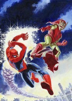 John Romita, Sr. - Original Cover Art for Spectacular Spider-Man #2 (Marvel, 1968).