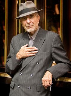 angescott...photo of the exquisite Leonard Cohen.