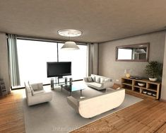 modern furniture living room design for small apartment floor from Unique Contemporary Apartment Interior Decorating Ideas with appealing Interior Design For Apartments by gray sofa with cream Interior Design With Wood Flooring Astounding Modern Apartment Interior Design by white sofa and Stunning Modern Apartment Interior Designs with Wood Floors and Rugs : Rugs For Light Wood Floors Modern Apartments Interior With Simple Wooden Dining Table Set