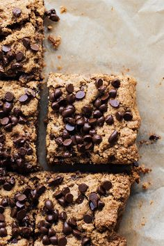 Thick & chewy Almond Butter Chocolate Chip Blondies. An amazing gluten free dessert that is gooey, chocolate-y, and so addicting. You will love this paleo friendly dessert that is healthy, requires 1 bowl, and takes 30 minutes to make! | asimplepalate.com #asimplepalate #blondies #glutenfree #dessert #paleo