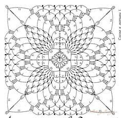 Resultado de imagen para manteles a crochet cuadrados con patrones