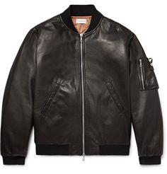 JOHN ELLIOTT Bogota Leather Bomber Jacket. #johnelliott #cloth #coats and jackets