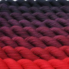 Crimson to Midnight Color Bridge Yarn Set by colorshiftyarn