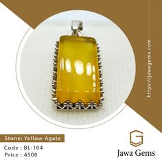 Yellow Agate Pendant BL 104 ₨ 4,500 For more details whatsapp on 03159477284 Free delivery all over Pakistan Yellow Sapphire stone unites lovers who are separated. The wearer of yellow sapphire gets the knowledge of the law, ethics, wit, wisdom, worldly happiness, physical power, cleverness, long life, good health #JawaGems #Jawa #YellowSapphire #YellowSapphirering #YellowSapphirebracelet #YellowSapphirependent #YellowSapphireearring #Stone #FemaleRing #Ruby #Feroza #Opal #BuyOnline…