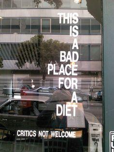 best restaurant window sticker ever!