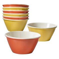 Threshold™ Dip Bowl Set of 8 - Coral/Yellow