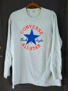 Vintage Converse All Star Japan Long Sleeve T Shirt by ArenaVintage