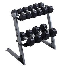 b0d687db933 eBay  Sponsored 2 Tier 29  Dumbbell Weight Storage Rack Multiple Weights  Set Home Gym