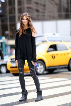 Los beneficios de vestir de negro : ELLE