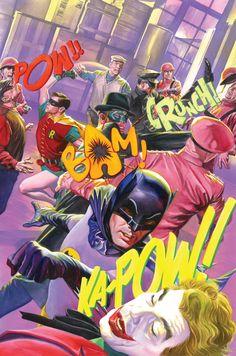 Batman '66 Meets The Green Hornet #6 by Alex Ross. Increible ilustración haciendo honor al Batman de Adam West