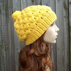 Instant Download Knitting Pattern  Bubble Beanie Hat by pixiebell