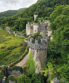 Gwrych Castle in North Wales Photo by @forgottenheritage
