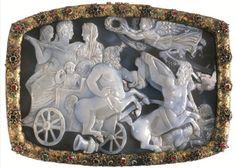 "Byzantine cameo, dated 315 AC. Found in the shipwreck of the Dutch ship 'Batavia"""