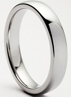 Classic Domed 5mm Tungsten Ring $49