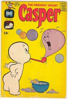 1963 - Harvey Comics CASPER friendly ghost via Etsy.