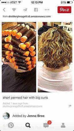 Loose curl perm