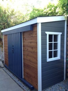 Shed Plans - A very unique Sarawak garden shed, can't decide between cedar or maintenance free siding? Mix and match! - Now You Can Build ANY Shed In A Weekend Even If You've Zero Woodworking Experience! Shed Organization, Storage Shed Plans, Storage Ideas, Small Storage, Garage Storage, Toy Storage, Bike Storage Shed Diy, Recycling Storage, Patio Storage