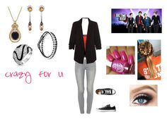"""""""Crazy For U by Big Time Rush"""" by themortalinstrumentslover ❤ liked on Polyvore featuring Paige Denim, Topshop, Converse, Lord & Taylor, Tod's and Bling Jewelry"""