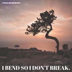 I bend so I don't break.  #Inspirational #Quote #SmallBusiness #Yogainspiration #Yoga