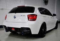 BMW with Fi Exhaust Installation Bmw 116, 135i, Bmw 1 Series, Benz Car, Bmw Classic, Maserati, Ferrari, Car Wheels, Bmw Cars