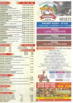 Meniu Pizzeria Mamma Mia Pizza Delivery, Mamma Mia