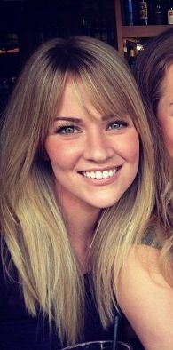 Debating whether I should keep growing my bangs or do something like this... Hmm. @Dee Richter  what do you think?? :)