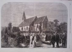 1865 PRINT THE FUNERAL OF MR COBDEN IN WEST LAVINGTON