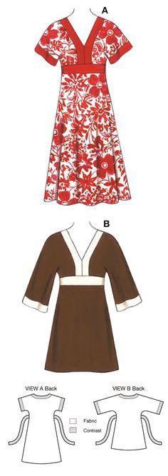 Easy tunic sewing pattern by Kwik Sew
