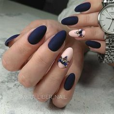 A manicure is a cosmetic elegance therapy for the finger nails and hands. A manicure could deal with just the hands, just the nails, or Elegant Nail Designs, Elegant Nails, Nail Art Designs, Rose Gold Nails, Matte Nails, Gradient Nails, Holographic Nails, Acrylic Nails, Solid Color Nails